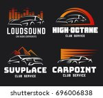 set of modern sports car and... | Shutterstock .eps vector #696006838