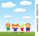 vector happy kids. | Shutterstock .eps vector #69601270