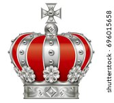 illustration of the crown.  ... | Shutterstock . vector #696015658