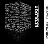 ecology. word collage on black... | Shutterstock .eps vector #69601981