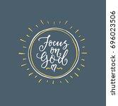 vector religions lettering  ... | Shutterstock .eps vector #696023506