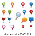 gps icon set. | Shutterstock .eps vector #69602815