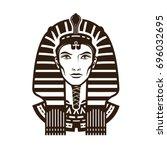 portrait of pharaoh. africa ... | Shutterstock .eps vector #696032695