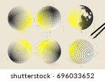 halftone sphere designs | Shutterstock .eps vector #696033652