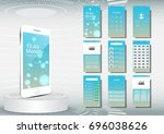 ui  ux for mobile application... | Shutterstock .eps vector #696038626