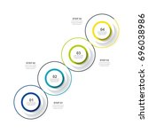 circle infographic template... | Shutterstock .eps vector #696038986