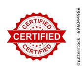 certified grunge rubber stamp.... | Shutterstock .eps vector #696044986