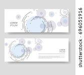 two modern banner. abstract... | Shutterstock .eps vector #696051916