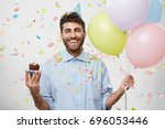 people  joy  fun and happiness... | Shutterstock . vector #696053446