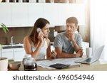 busy businesswoman preparing...   Shutterstock . vector #696054946