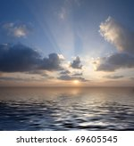 sunset over the sea | Shutterstock . vector #69605545