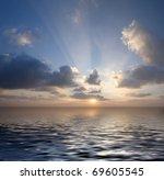 sunset over the sea | Shutterstock . vector #69605545