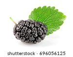 Mulberry Berry With Leaf...