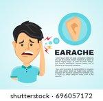 vector illustration flat man... | Shutterstock .eps vector #696057172