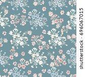 simple gentle pattern in small... | Shutterstock .eps vector #696067015