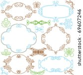 decorative  ornaments for... | Shutterstock .eps vector #69607246
