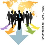 group of global business people ... | Shutterstock .eps vector #69607501