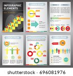 modern business brochures and... | Shutterstock .eps vector #696081976