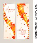 collection of autumn sale and... | Shutterstock .eps vector #696097126