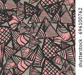 retro geometric  shapes... | Shutterstock .eps vector #696100762