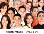 faces of the world montage... | Shutterstock . vector #6961114