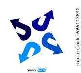 arrow vector arch   Shutterstock .eps vector #696113842