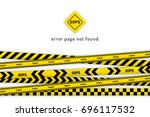 oops website page with black... | Shutterstock .eps vector #696117532