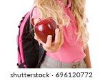 education  anonymous girl... | Shutterstock . vector #696120772