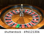 american roulette wheel with a...   Shutterstock . vector #696121306