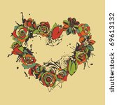 heart consist of colorful... | Shutterstock .eps vector #69613132