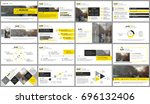 yellow and black elements for... | Shutterstock .eps vector #696132406