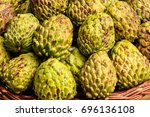 custard apple is a common name... | Shutterstock . vector #696136108