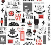 british newspaper texture... | Shutterstock .eps vector #696139192