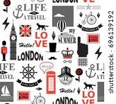 british newspaper texture...   Shutterstock .eps vector #696139192
