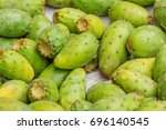 opuntia ficus indica is a... | Shutterstock . vector #696140545