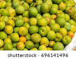 the greengages are a group of... | Shutterstock . vector #696141496
