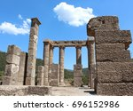 antas ancient nuragic punic... | Shutterstock . vector #696152986