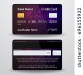 detailed realistic credit card. ... | Shutterstock . vector #696155932