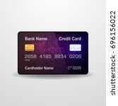 detailed realistic credit card. ... | Shutterstock . vector #696156022