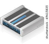 futuristic server unit | Shutterstock .eps vector #69615835