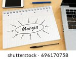 margin   handwritten text in a... | Shutterstock . vector #696170758