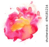colorful abstract watercolor... | Shutterstock .eps vector #696181216