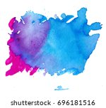colorful abstract watercolor... | Shutterstock .eps vector #696181516