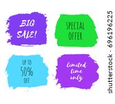 set of big sale  special offer  ... | Shutterstock .eps vector #696196225