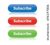 subscribe buttons | Shutterstock .eps vector #696197806