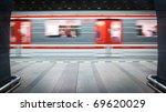 Subway Station  Motion Blurred...
