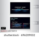 thunder bolt pattern name card... | Shutterstock .eps vector #696209032