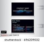 thunder bolt pattern name card... | Shutterstock .eps vector #696209032