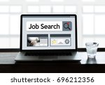 job search businessman human... | Shutterstock . vector #696212356