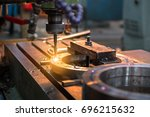 close up metal machine working... | Shutterstock . vector #696215632